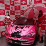 プジョー206のピンクラテ・レースカー