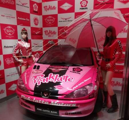 pink latte レースカー プジョー206